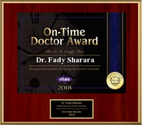 2018 On-Time Doctor Award - Dr. Fady Sharara